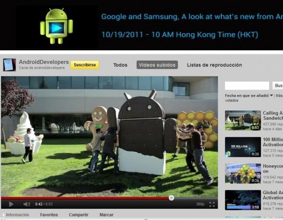 Ice Cream Sandwich llega al jardín de Google (VIDEO)