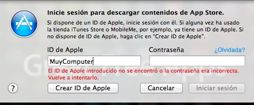 iTunes contraseña password