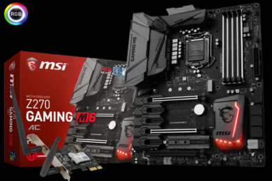 MSI comercializa la placa base Z270 GAMING M6