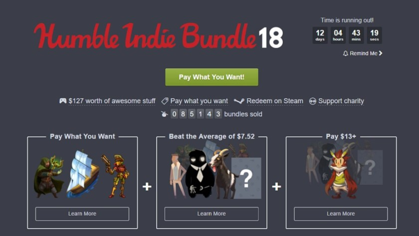 Nuevo Humble Bundle 18 dedicado a Windows, Mac y Linux
